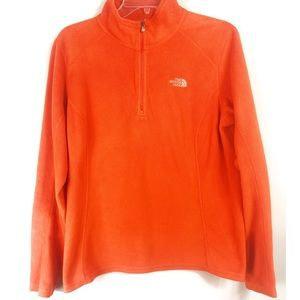 The North Face Fleece Pullover Orange Polartec L